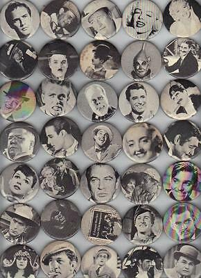 38 Different 1960 Universal Studios Movie Stars Pinbacks Pin  40-50 Yrs Old RARE
