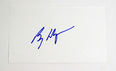Billy Wagner Signed Index Card JSA Auto