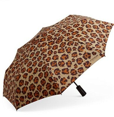 COACH 65689G WILD BEAST PRINT RETRACTABLE UMBRELLA New with Tag