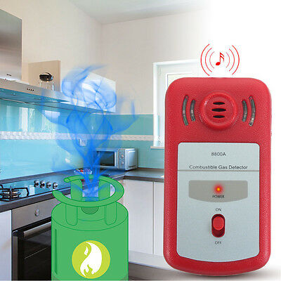 New Combustible Gas Leak Detector Sound Light Alarm Tester Home Office Safety