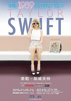 """TAYLOR SWIFT """"THE 1989 WORLD TOUR"""" SHANGHAI CONCERT POSTER - Country, Pop Music"""
