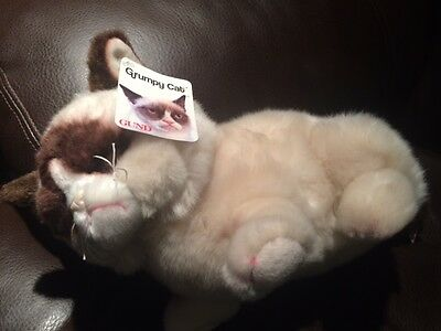 Gund 4048613 Grumpy Cat Lying Down Plush...New, Free Shipping