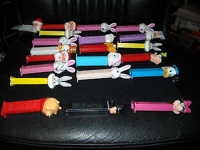 vintage pez collection lot 12 slovenia 8 hungary disny batman easter  pooh santa