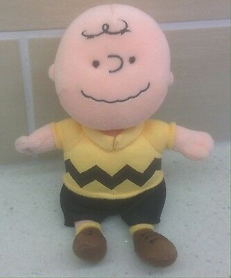 Charlie Brown Ty Beanie Plush Soft Toy - 2010 - Peanuts - Snoopy Cartoon + sound