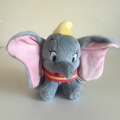 "Disney Store Dumbo 7"" Bean Bag Plush Doll -  New With Tags"