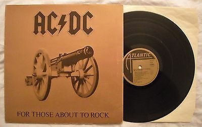 AC/DC - FOR THOSE ABOUT TO ROCK - ANNO 1981 - 1° Stampa Germania - Gatefold  EX+