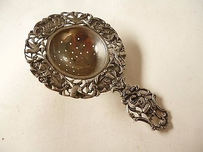 Passe The En Argent  Chine Chinese Indochine Silver Tea