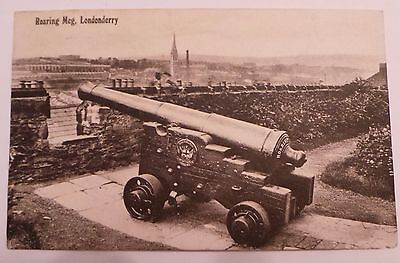 1911 Postcard - 'roaring Meg, Cannon, Londonderry' -  Siege Of Derry -Real Photo