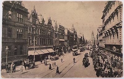 Circa 1900 Postcard - 'high Street, Belfast' - Albert Clock -Antrim - Unposted