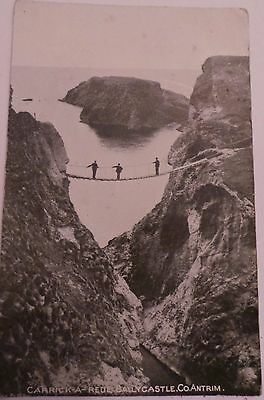 1929 Postcard - 'carrick-A-Rede- Rope Bridge' - Ballycastle Co. Antrim - Posted
