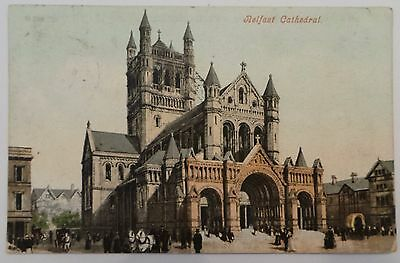 1907 Postcard - 'belfast Cathedral' - County Antrim -Northern Ireland - Posted