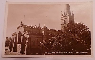 1920 Rp Postcard - 'st. Columbs Protestant Cathedral, Londonderry' - Unposted