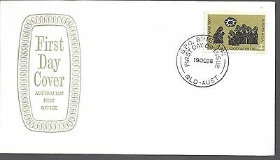 1966 Australia First day cover 4c Symbolic Christmas stamp