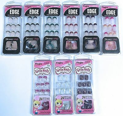 Fing'rs EDGE Fashion Nails Or Girlie Petite Nails 24 Glue On Nails Your Choice