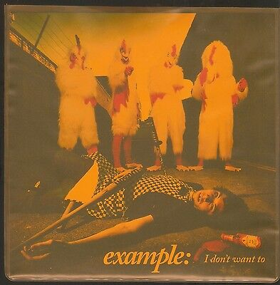 "EXAMPLE - ""I Don't Want To"" 7-inch vinyl single in translucent orange sleeve NM"
