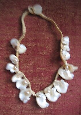 Woman's Ethnic choker- shells and faux pearls- Hippy-Free spirit-new Zealand
