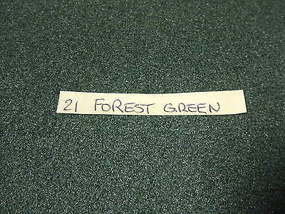 "Dark Green Forest Green 19"" x 13"" Self Adhesive Dolls House Carpet (21)"