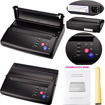 Pro Tattoo Transfer Stencil Machine Thermique Imprimante Flash Hectograph Papier