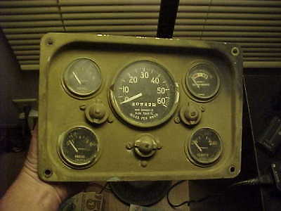 Nice M151 A2 Military Jeep Instrument Panel Gauge Cluster 40942 On Speedometer 2