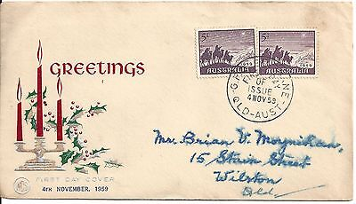 1965 Australia First day cover 5d purple 3 wise men Christmas stamp