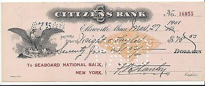 "1901 Ellsworth Minnesota Bank Draft RN-X7 ""Eagle"""