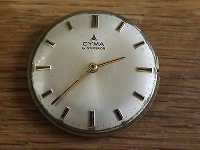 Interesting Vintage Cyma Wristwatch Movement