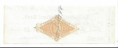 1881 Jacksonville Illinois Bank Check RN-G1a