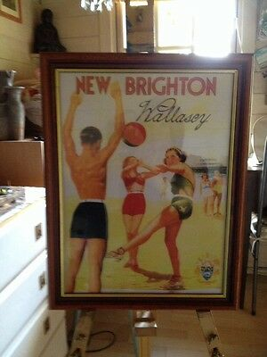 Framed Print New Brighton 1939 Holiday Poster  Local Photographer collect local