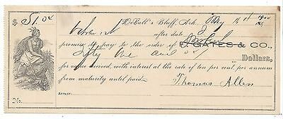 1900 DeValls Bluff Arkansas Promissory Note