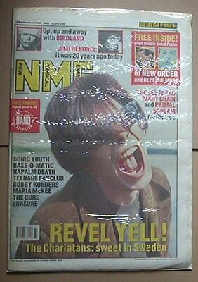 Charlatans Nme Magazine 15Th Sept 1990 Charlatans Cover (In Sweden) Uk