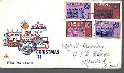 1971 Australia First day cover Christmas 4 x 7c stamps