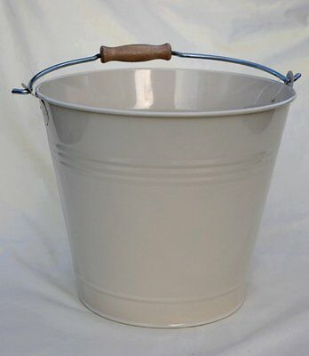 Cream Enamel Household Bucket - Shabby Chic Vintage