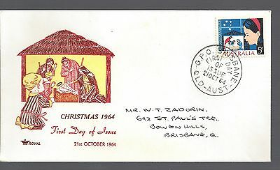 1964 Australia First day cover Christmas  5d Nativity Scene stamp
