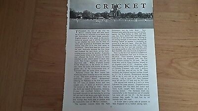 Cricket - 9 Pictures and Article From Season 1958