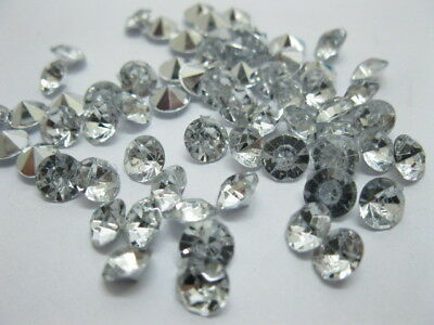 2000 Diamond Confetti 6.5mm Wedding Table Scatter-Clear