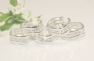 Wholesale 925sterling solid Silver Lots 10pcs  wavy toe rings Adjustable  Y28