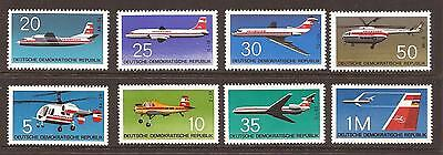 Airplanes GERMANY DDR MNH 2x complete sets INTERFLUG AVIATION Russia aircraft