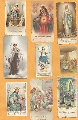 Lot 9  Images Pieuses Holy Card Jesus Roi Mages Marie Apparition