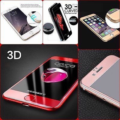 3D Full Cover Tempered Glass Curved Screen Protector For Apple iPhone Models
