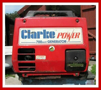 PORTABLE CLARKE 4 Power G900 Petrol Generator / 700 W ...