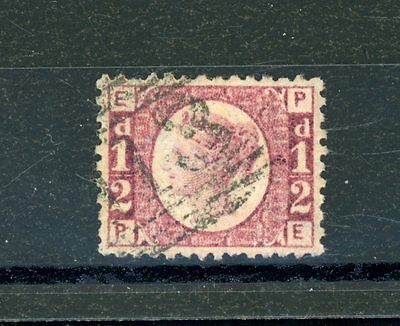 Great Britain 1870  1/2d rose  (SG 48)  Plate 8  fine-used  (Jy039)