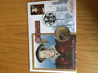 1997 catherine parr coin cover and first day cover