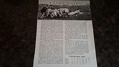 Rugby Union - 1956 & 1958 International Matches  - 15 Pictures and Articles
