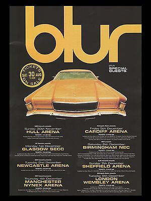 "BLUR UK Concert Tour 16"" x 12"" Photo Repro Promo  Poster"