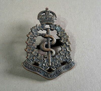 Ww1 Original Canadian Medical Corps Cap Badge R.j. Inglis Limited