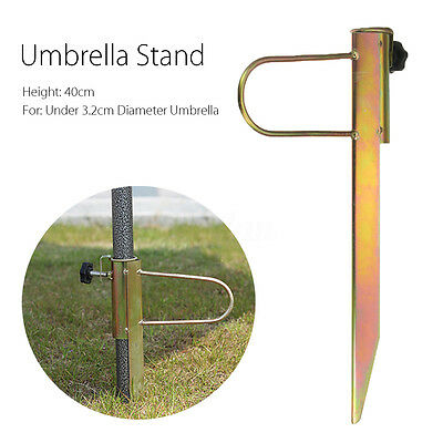 40cm Fishing Umbrella Stand Holder Sun Beach Parasol Sand Anchor Garden Outdoor