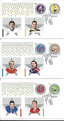 3 x Canadian FDC Ice Hockey 2005 HENRI RICHARD GRANT FUHR