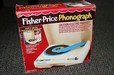 Vintage Fisher Price Phonograph Record Player #0825 W/box & Instructions