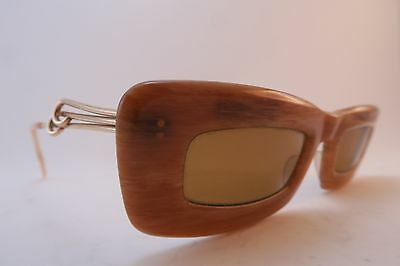 Vintage early 60s Essel sunglasses NOS acetate made in France SUPERB