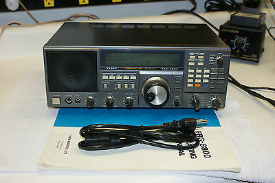 Yaesu FRG-8800 HF Communications Receiver & FRV-8800 VHF Converter. Tested.